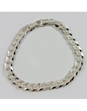 Bransoletka srebrna pancerka 22cm BRA48