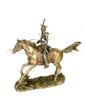 Figurka dekoracyjna Polski Ułan na koniu Veronese WU77178A4