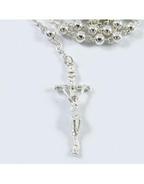 Różaniec srebrny z kuleczkami RÓŻ3
