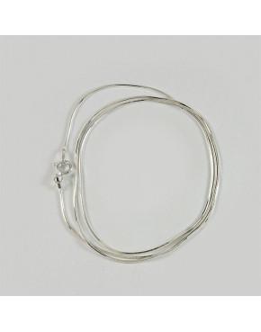 Łańcuszek srebrny linka - splot sześciokątny 55cm ŁAN60
