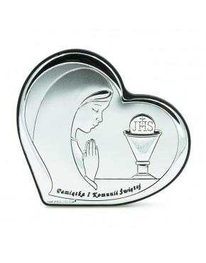 Ikona, obrazek srebrny - Pamiątka I Komunii Świętej 6518/1A