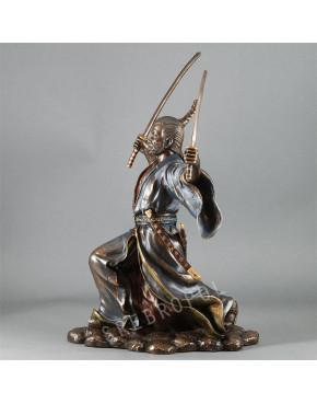 Figurka Samuraj z dwoma mieczami Veronese WU71595A4