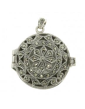 Zegarek srebrny damski na łańcuszek - markazyty ZEG1
