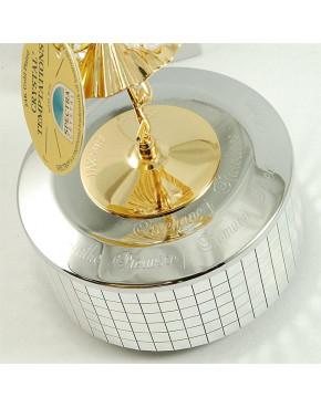 Złota pozytywka elf z kryształkami swarovskiego i opcją grawerowania 122-0083