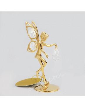 Złota figurka elf z kryształkami swarovskiego 122-0080