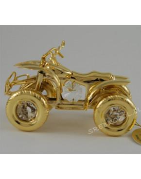 Złota figurka quad z kryształkami swarovskiego 122-0161