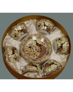 Komplet porcelana japońska Pawie beżowe FIL680KB