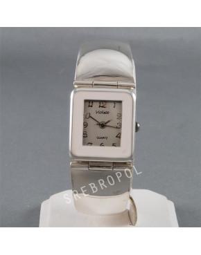 Zegarek srebrny damski na bransolecie Violett 18