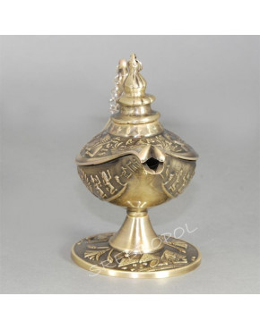 Lampa alladyna mosiądzowana 472-4337