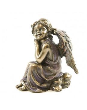 Figurka aniołek zamyślony Veronese WU70502A4