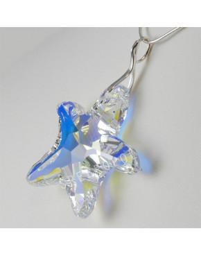 Rozgwiazda z kryształkiem swarovskiego - CRYSTAL AB 40.0 mm