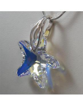 Rozgwiazda z kryształkiem swarovskiego - CRYSTAL AB 28.0 mm