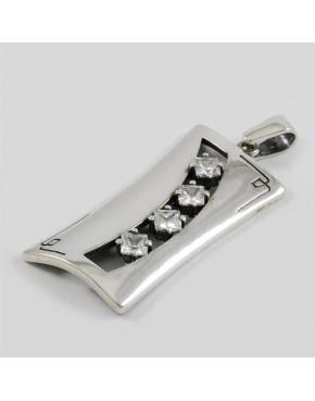 Wisiorek srebrny z cyrkoniami SA 430 8.2g