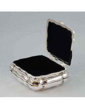 Posrebrzana kasetka, szkatułka na biżuterię 472-4016