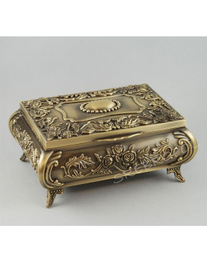 Mosiądzowana szkatułka na biżuterię 472-4305