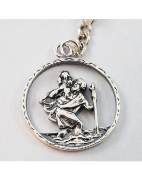 Brelok srebrny św. Krzysztof BR 36/0 B2