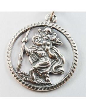 Brelok srebrny św. Krzysztof SH 8,1g
